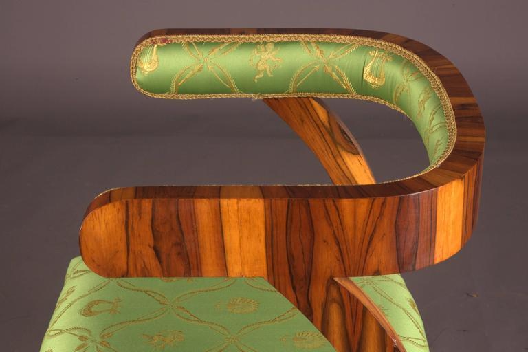 Veneer Armchair after Josef Danhauser Vienna in Biedermeier Style For Sale