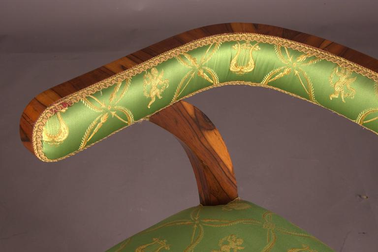 Armchair after Josef Danhauser Vienna in Biedermeier Style For Sale 1
