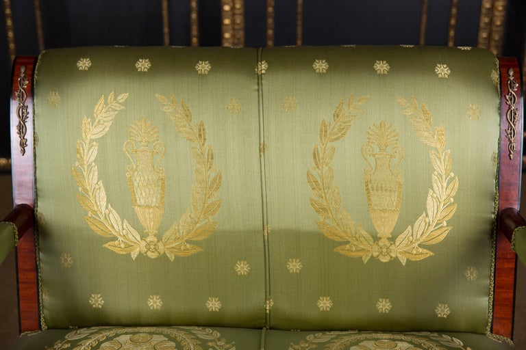 Elegant French Seating Set in Empire Style Mahogany In Good Condition For Sale In Berlin, DE