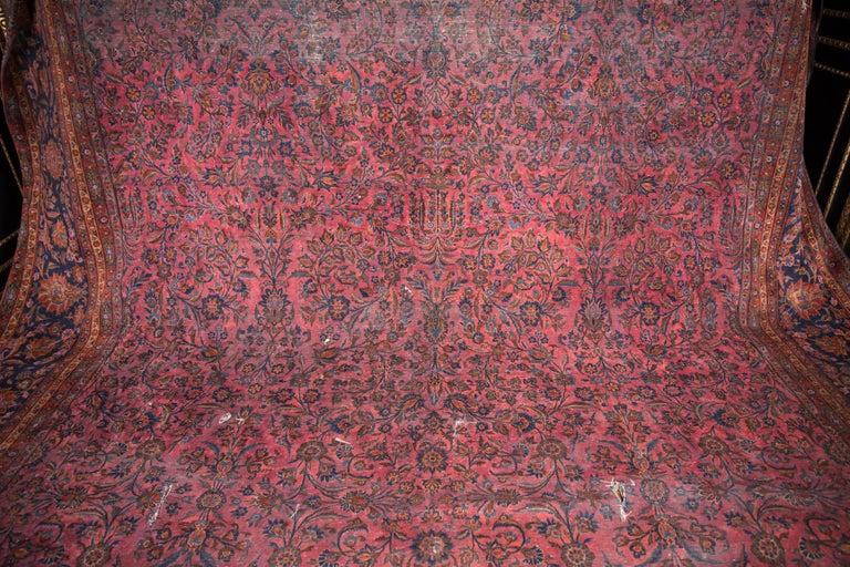 19th century majest tischer palast teppich manchester keshan for sale at 1stdibs. Black Bedroom Furniture Sets. Home Design Ideas