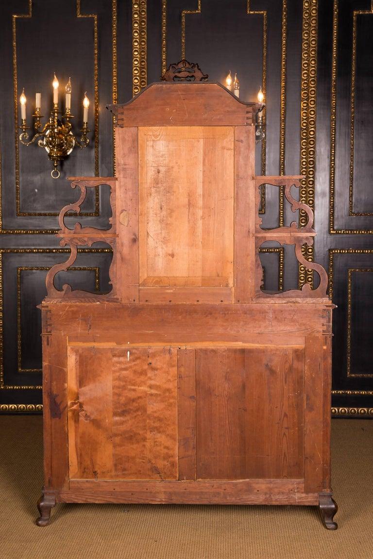 Late 19th Century Biedermeier Top Cupboard, circa 1860 Walnut Veneer For Sale 5
