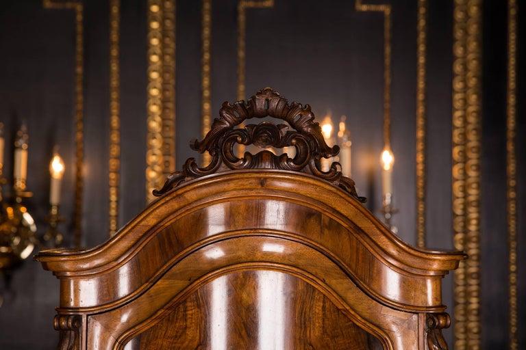 German Late 19th Century Biedermeier Top Cupboard, circa 1860 Walnut Veneer For Sale