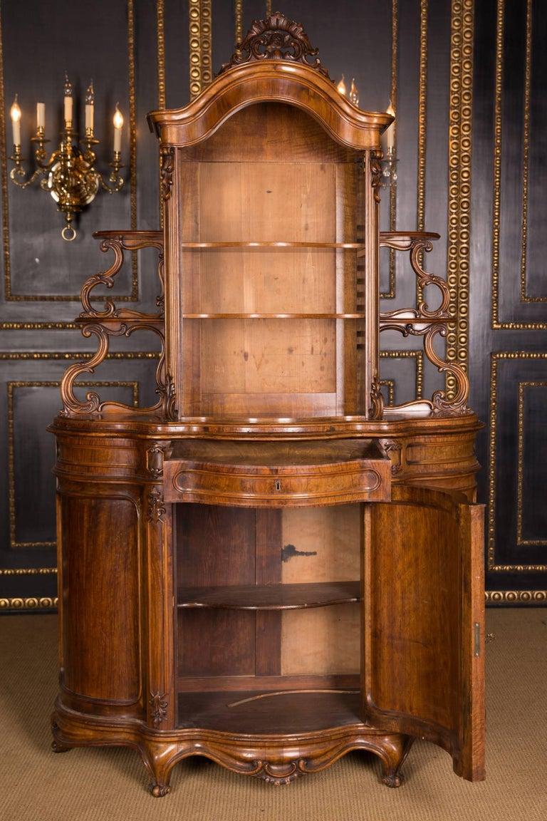 Late 19th Century Biedermeier Top Cupboard, circa 1860 Walnut Veneer For Sale 1