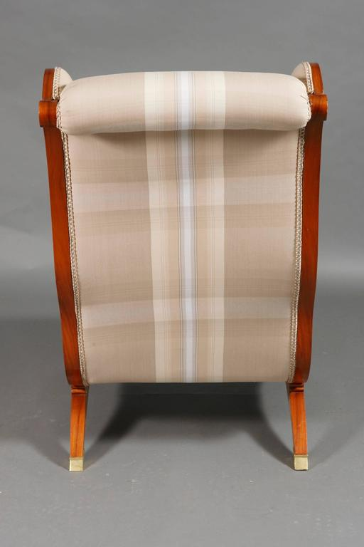 White Armchair made of Rosewood in Biedermeier Style  For Sale 1