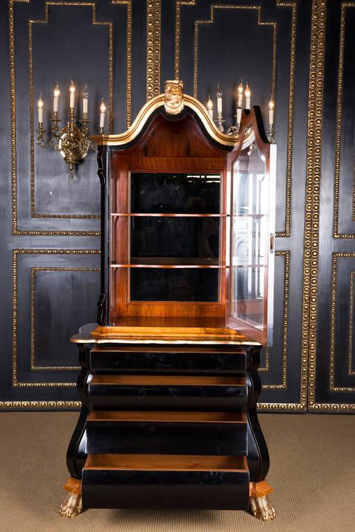 20th century display cabinet in dutch baroque style maple for Dutch baroque architecture