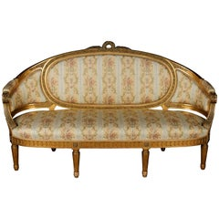 19th Century Louis Seize Salon Sofa, 1870, Napoleon III