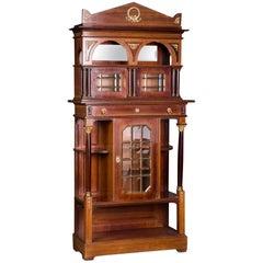 19th Century Cabinet in Empire Style Mahogany Veneer