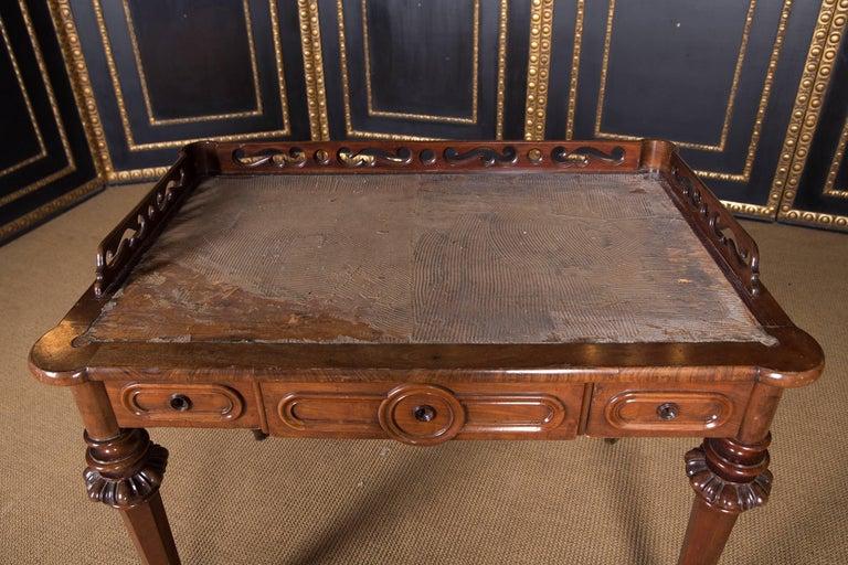German 19th Century, Historical Ladies Desk of the Late Biedermeier, Mahogany Veneer For Sale