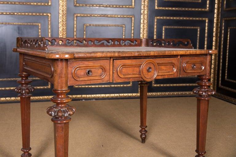 19th Century, Historical Ladies Desk of the Late Biedermeier, Mahogany Veneer For Sale 1