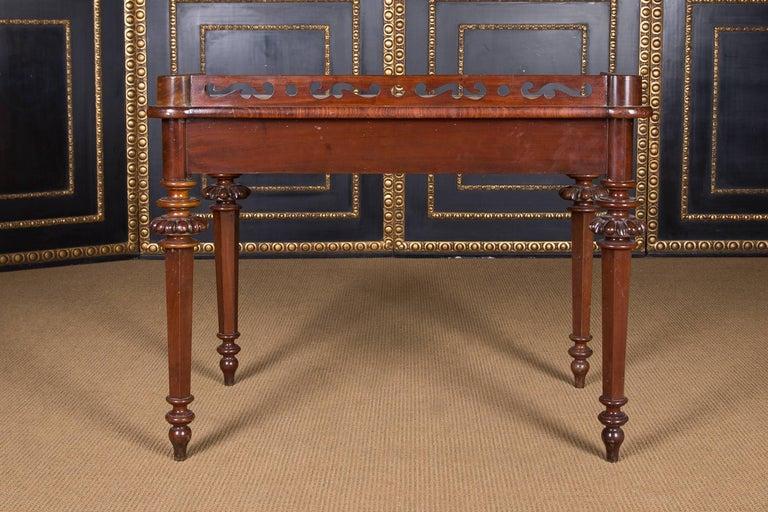 19th Century, Historical Ladies Desk of the Late Biedermeier, Mahogany Veneer For Sale 6
