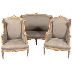 20. Jahrhundert Klassische Sitzmöbel, Dreier Set im Louis XVI Stil