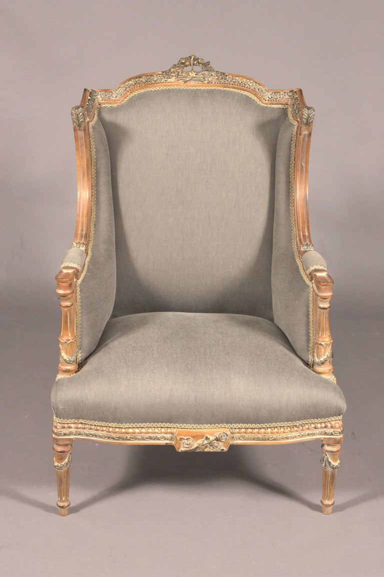 20th Century Classic Seating Set of Three Pieces in the Louis XVI Style For Sale 1