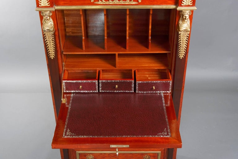 20th Century Library Secretaire in the Empire Style Mahogany Veneer For Sale 1