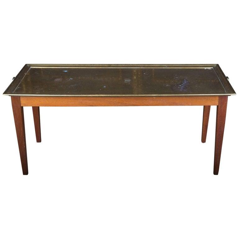 19th Century Original English Serving Table Mahogany Warm Patina