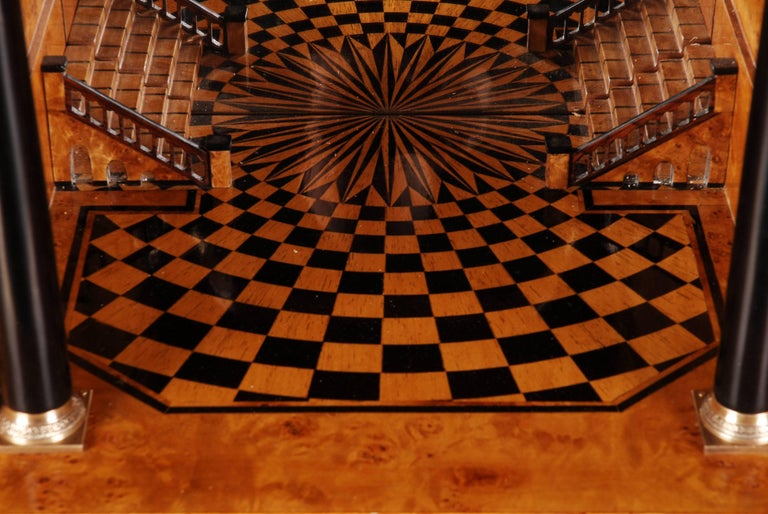 20th Century Napoleonic Secretaire in the Empire Style Ebonized Wood Veneer For Sale 3