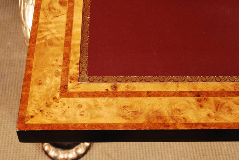 20th Century Napoleonic Secretaire in the Empire Style Ebonized Wood Veneer For Sale 4