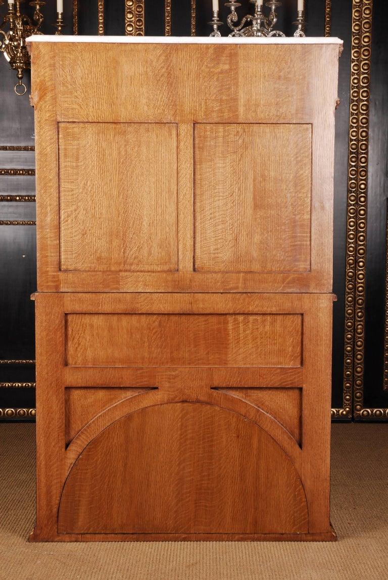 20th Century Napoleonic Secretaire in the Empire Style Ebonized Wood Veneer For Sale 6