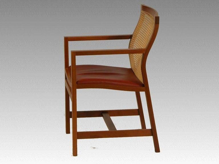 Mid-Century Modern 1980s Rud Thygesen and Johnny Sorensen Mahogany King Series Mahogany Armchairs For Sale