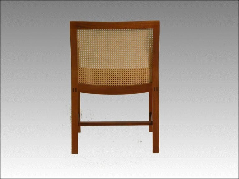 Hand-Crafted 1980s Rud Thygesen and Johnny Sorensen Mahogany King Series Mahogany Armchairs For Sale