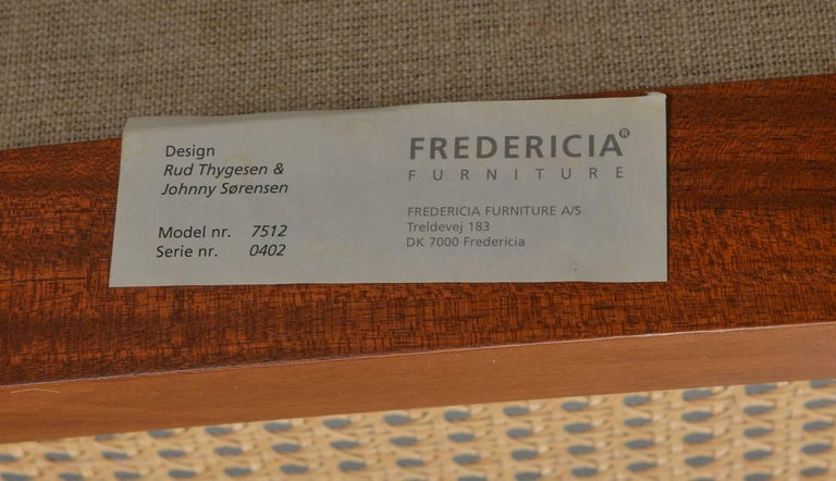 1980s Rud Thygesen and Johnny Sorensen Mahogany King Series Mahogany Armchairs In Good Condition For Sale In Knebel, DK