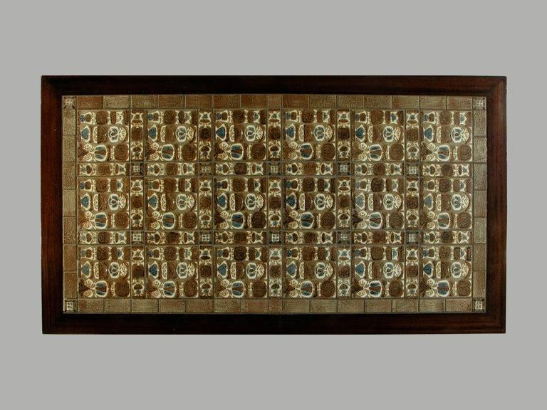 Scandinavian Modern 1970s Severin Hansen Rosewood Coffee Table with Royal Copenhagen Tiles For Sale