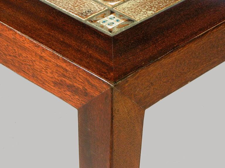 Danish 1970s Severin Hansen Rosewood Coffee Table with Royal Copenhagen Tiles For Sale