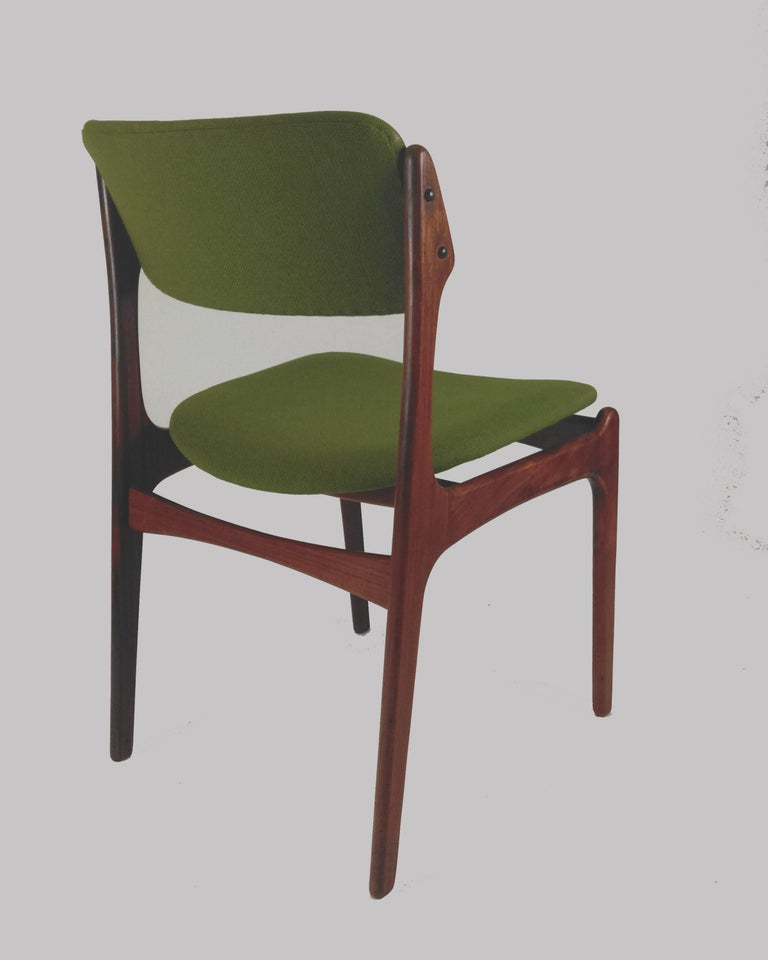 1960s Erik Buch Set of Eight Model 49 Rosewood Dining Chairs For Sale 3