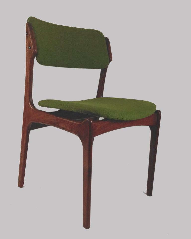1960s Erik Buch Set of Eight Model 49 Rosewood Dining Chairs For Sale 6