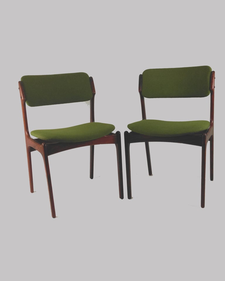 1960s Erik Buch Set of Eight Model 49 Rosewood Dining Chairs For Sale 7