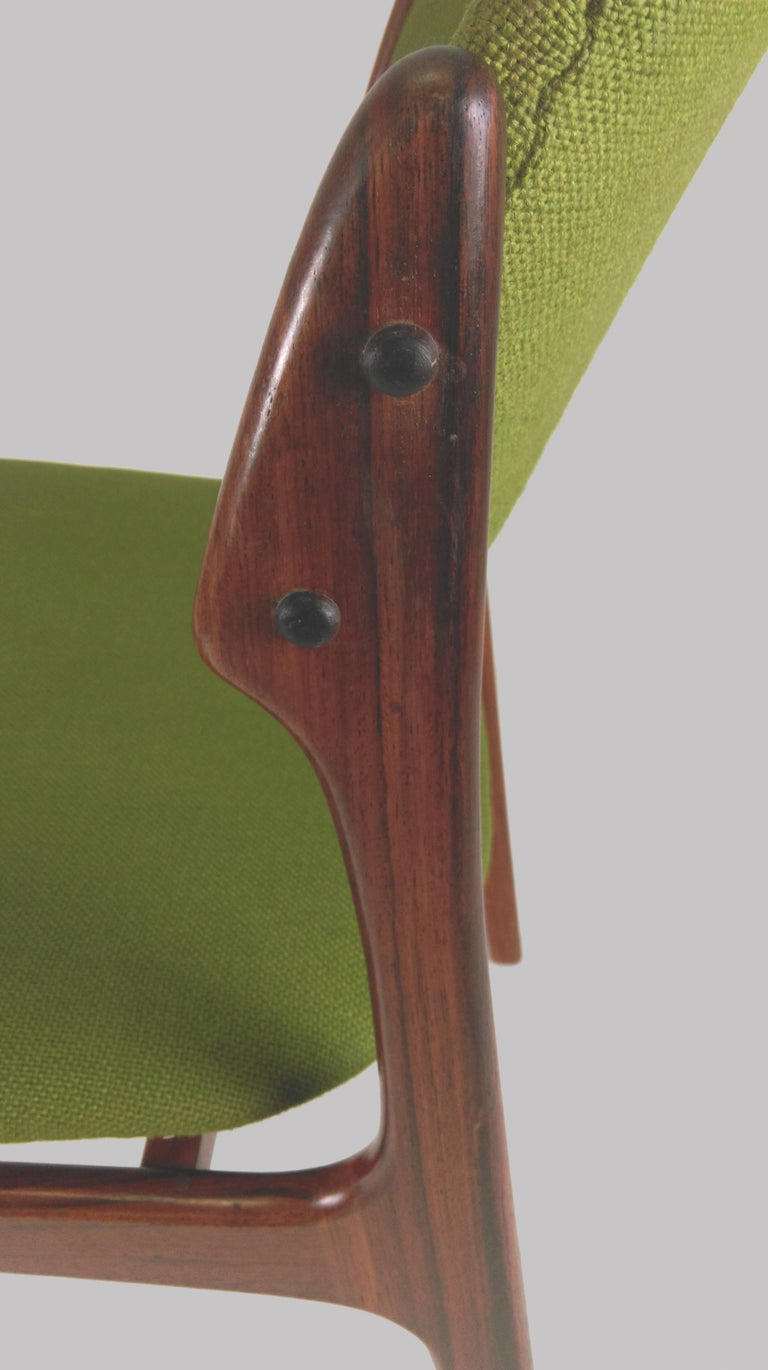 1960s Erik Buch Set of Eight Model 49 Rosewood Dining Chairs For Sale 10
