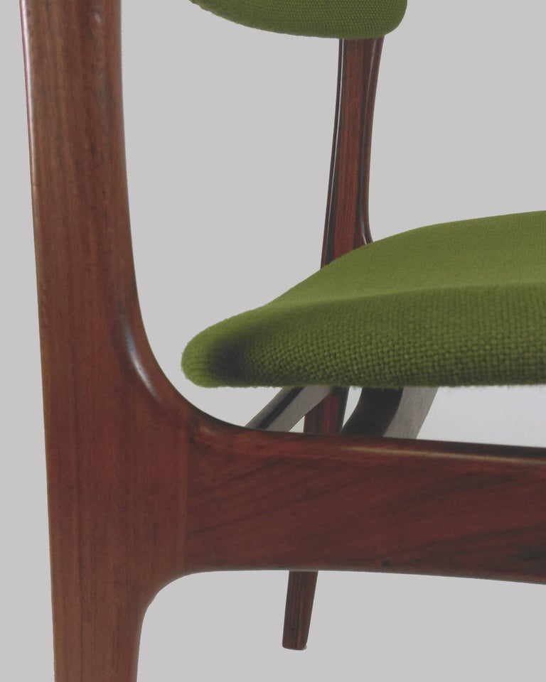 1960s Erik Buch Set of Eight Model 49 Rosewood Dining Chairs For Sale 11