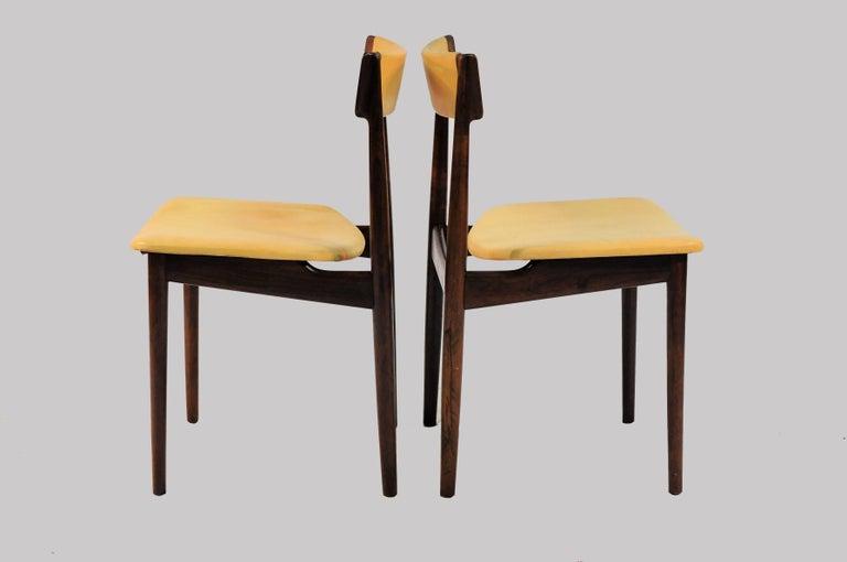 Mid-20th Century 1960s Set of Ten Henry Rosengren Hansen Model 39 Dining Chairs in Rosewood For Sale