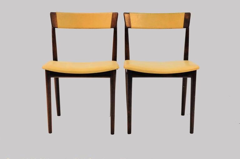 1960s Set of Ten Henry Rosengren Hansen Model 39 Dining Chairs in Rosewood In Good Condition For Sale In Knebel, DK
