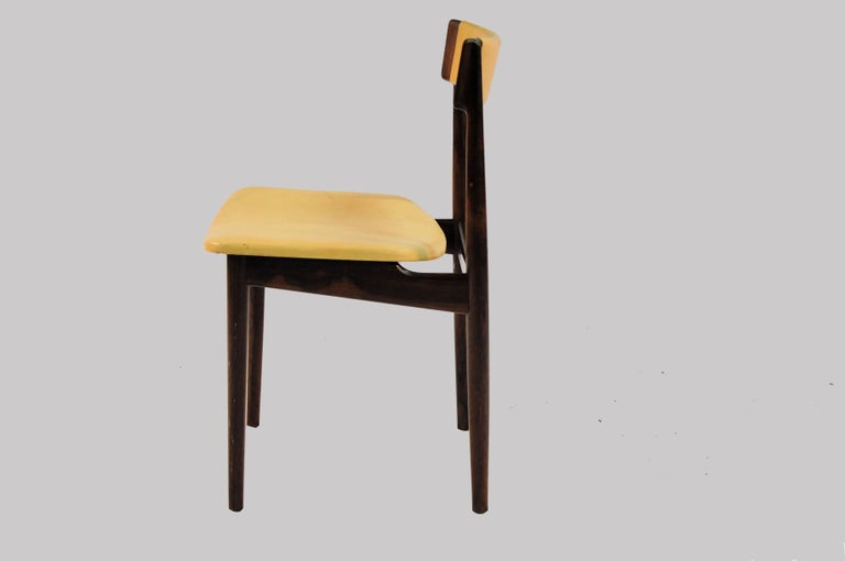 Scandinavian Modern 1960s Set of Ten Henry Rosengren Hansen Model 39 Dining Chairs in Rosewood For Sale