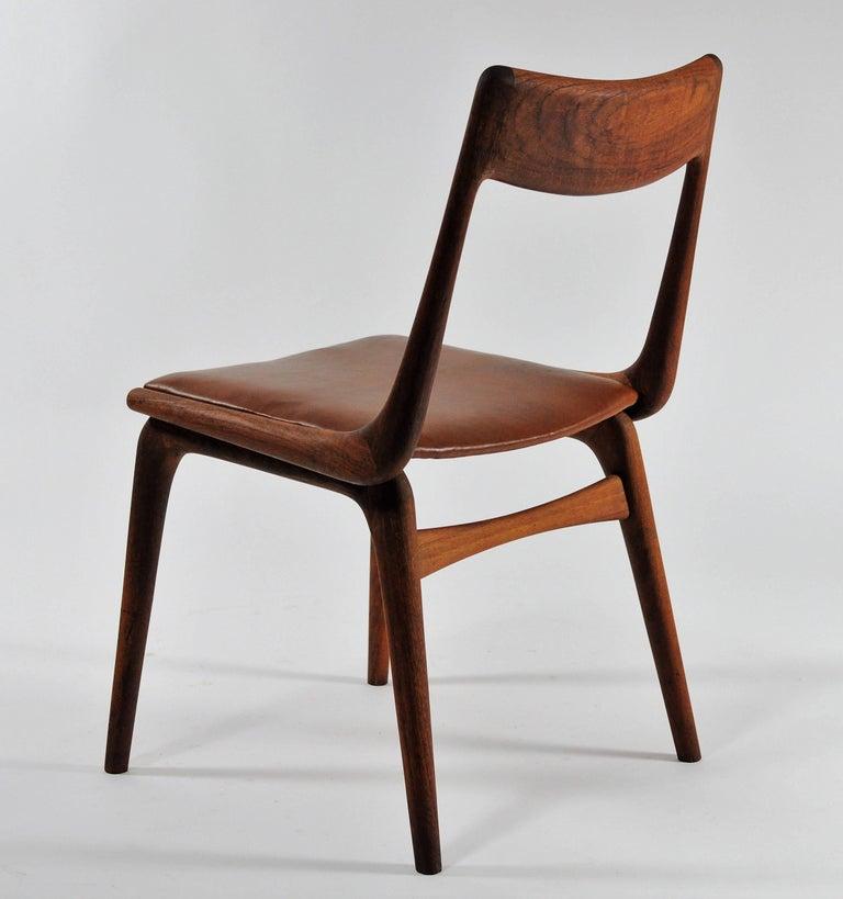 Danish 1950s Set of Six Reupholstered Alfred Christensen Boomerang Chairs in Teak