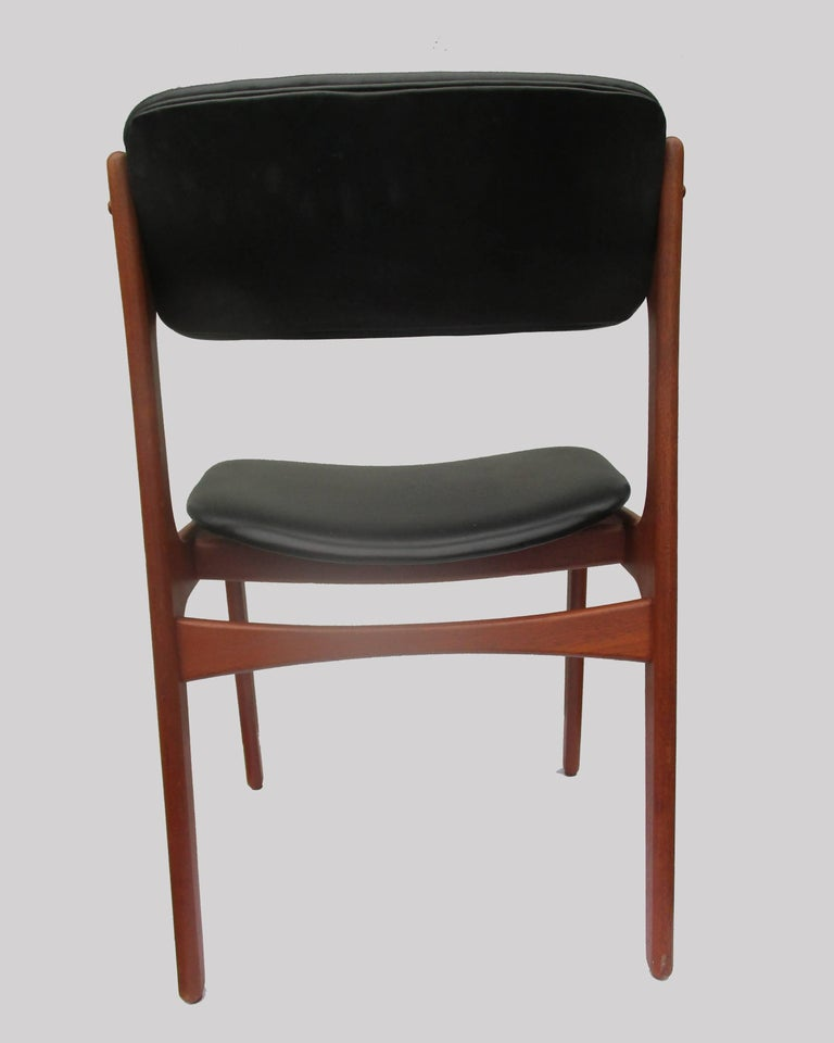Scandinavian Modern 1960s Erik Buch Set of Six Teak Dining Chairs - Choice of Upholstery For Sale