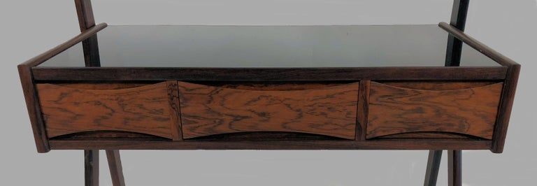 1950s Arne Vodder Rosewood Dressing Table In Good Condition For Sale In Knebel, DK