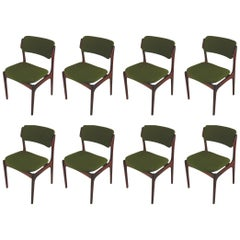1960s Erik Buch Set of Eight Rosewood Dining Chairs with Upholstery of Choice