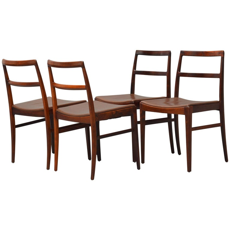 1950s Arne Vodder Rosewood Dining Chairs, Inc. Reupholstery For Sale