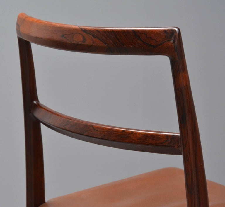 1950s Arne Vodder Rosewood Dining Chairs, Inc. Reupholstery For Sale 1