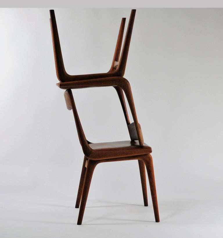 Six Danish Alfred Christensen Refinished Chairs in Teak, Inc. Reupholstery For Sale 3