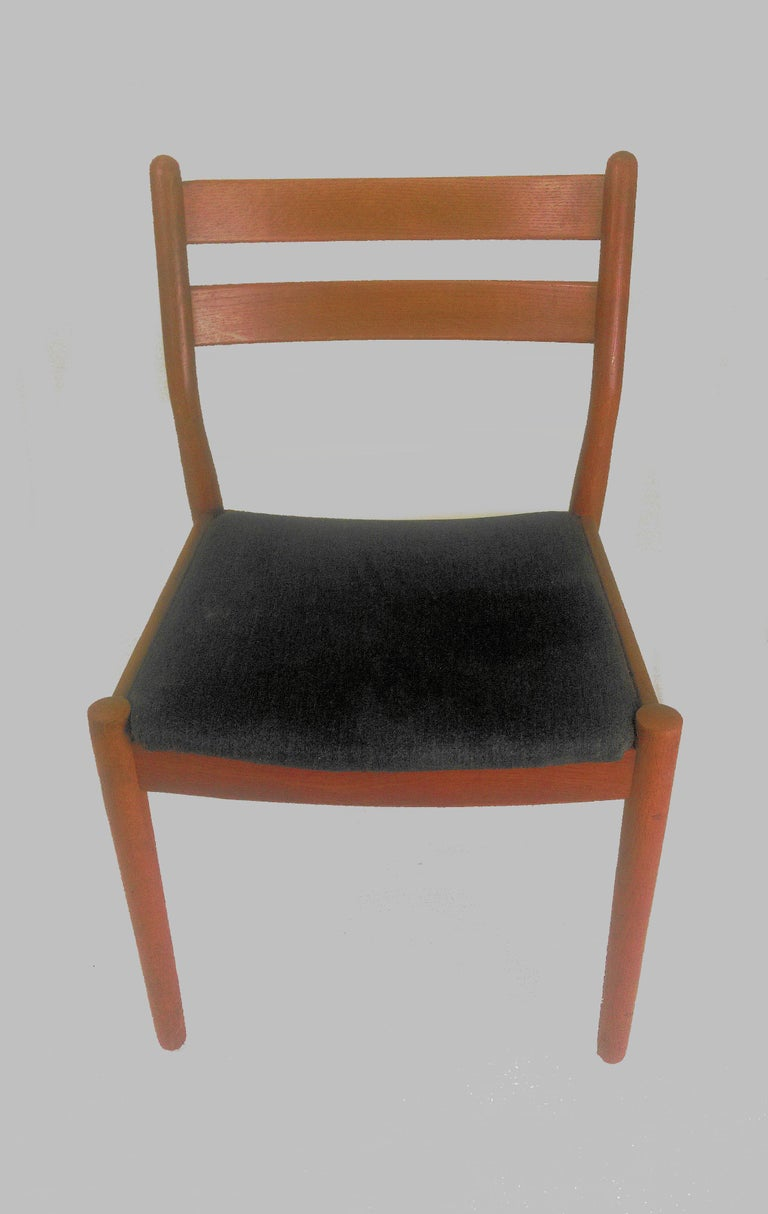 Scandinavian Modern 1960s Set of Six Danish Poul Volther Dining Chairs, Upholstery of Choice For Sale