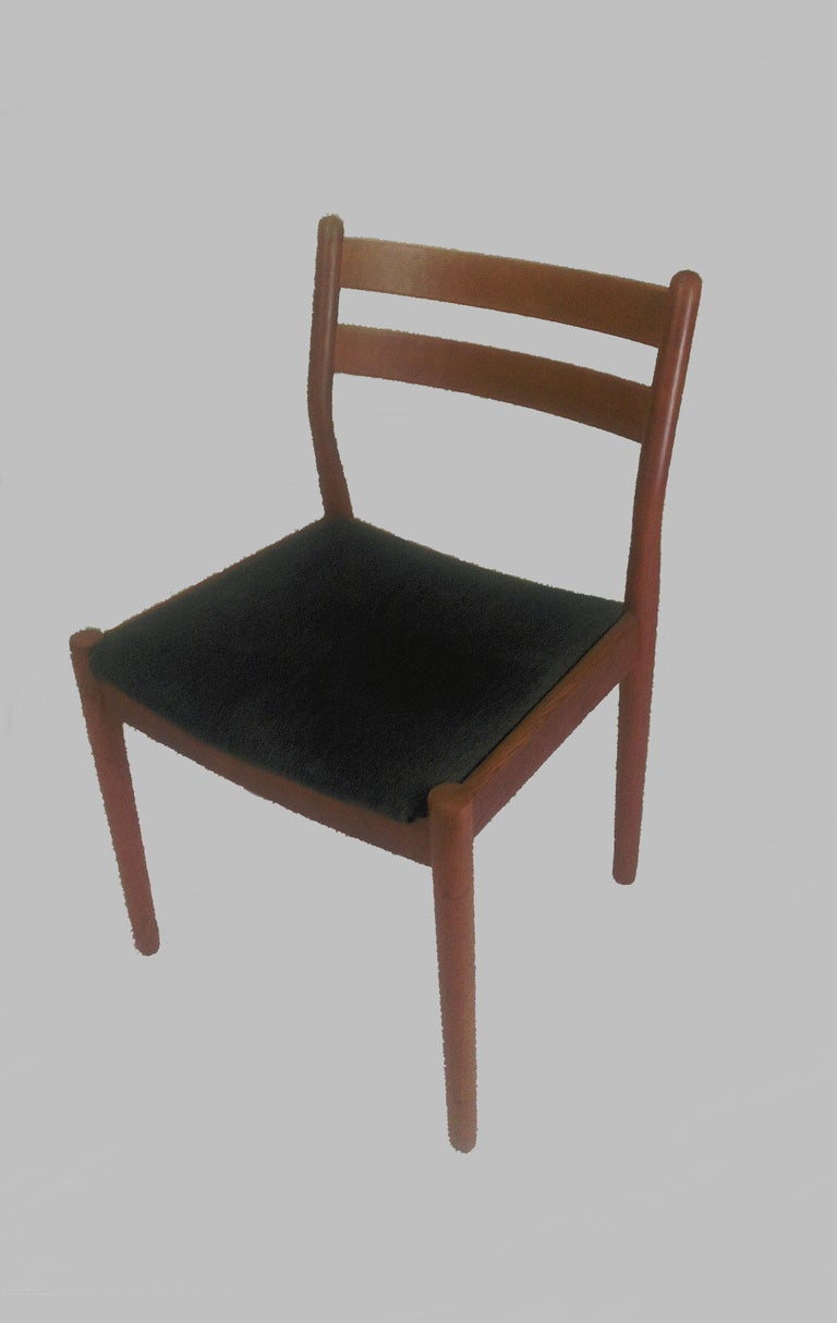 1960s Set of Six Danish Poul Volther Dining Chairs, Upholstery of Choice In Good Condition For Sale In Knebel, DK