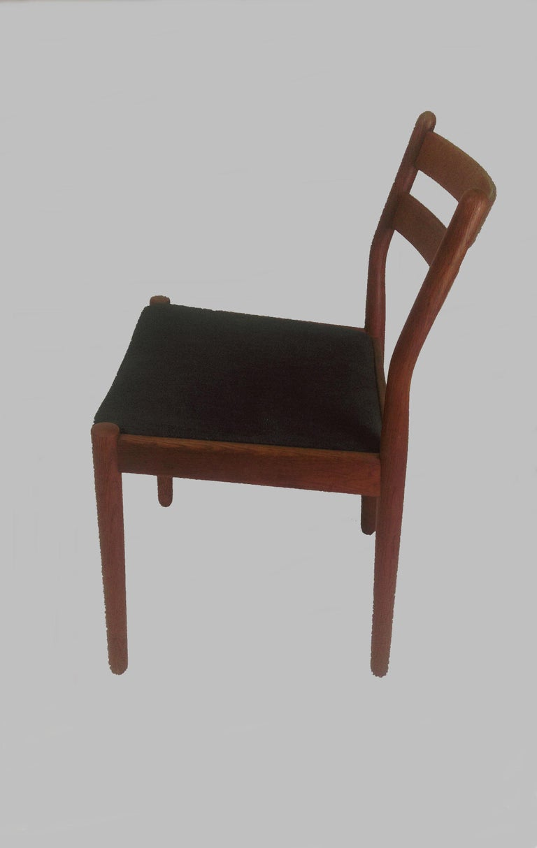 Mid-20th Century 1960s Set of Six Danish Poul Volther Dining Chairs, Upholstery of Choice For Sale