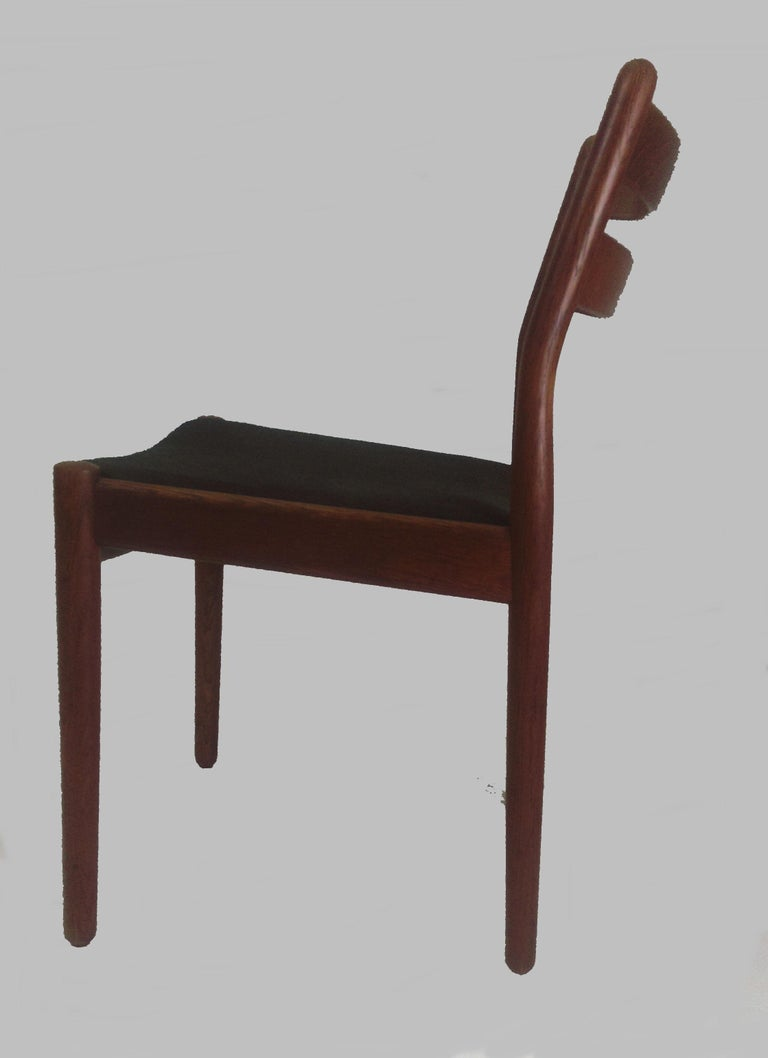 Oak 1960s Set of Six Danish Poul Volther Dining Chairs, Upholstery of Choice For Sale
