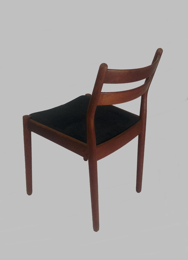 1960s Set of Six Danish Poul Volther Dining Chairs, Upholstery of Choice For Sale 1