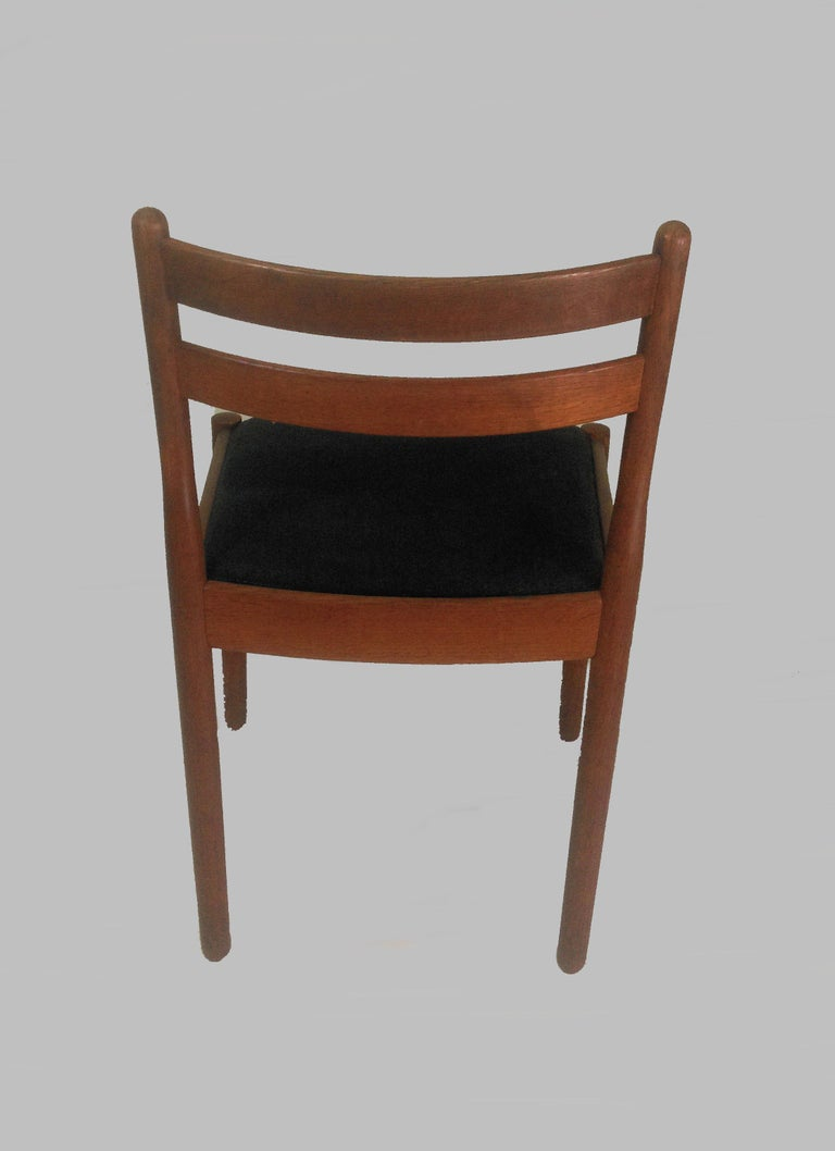 1960s Set of Six Danish Poul Volther Dining Chairs, Upholstery of Choice For Sale 2