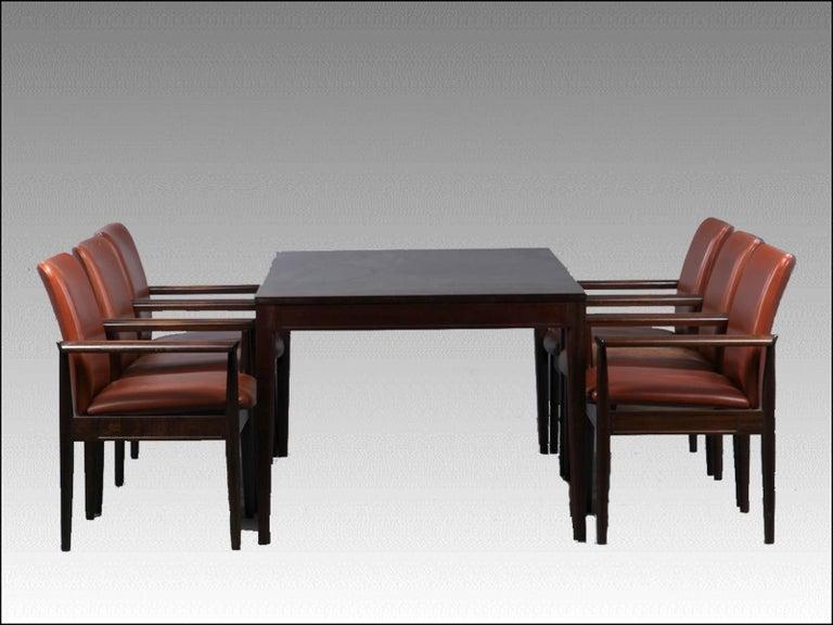 Scandinavian Modern 1960s Finn Juhl Mahogany Dining or Conference Table, Diplomat Series - Cado For Sale