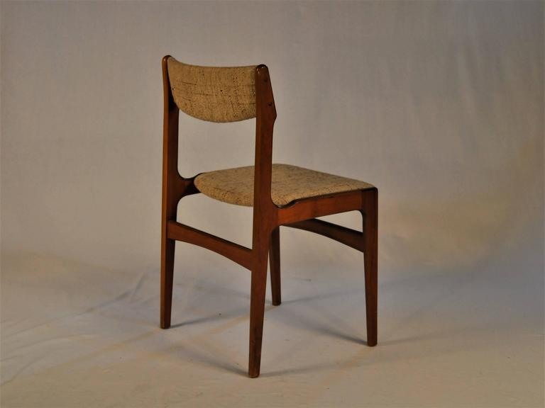 Woodwork 1960s Erik Buch Set of Six Dining Chairs in Teak - choice of upholstery For Sale