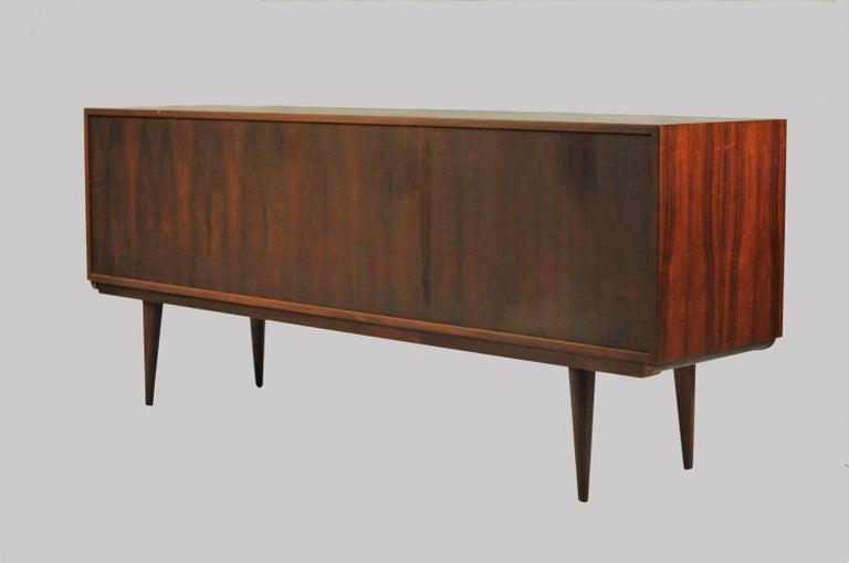 Scandinavian Modern 1960s Gunni Omann Rosewood Sideboard model 18 by Omann Jun For Sale